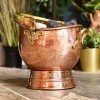 Copper and Brass Coal Bucket