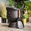 Black Coal Bucket with Shovel