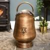 Antique Brass fireplace coal scuttle