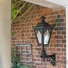 Outdoor garden lantern, mounted on wall