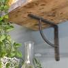 Blacksmith forged iron shelf bracket