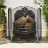 Three fold fire screen in living room