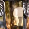Antique Glass close up on pillar lantern