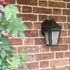 Weathered brown finish garden lantern