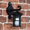 top fix black wall lantern