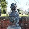 Bronze, Verdigris finished Wind & Willows frog