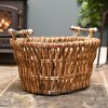 Traditional wicker basket