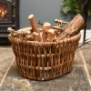 Household woven fireside log holder