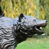 Bear Cub Garden Sculpture in an Antique Bronze Finish