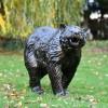 Antique Bronze Bear Cub Garden Sculpture in Situ Outdoors