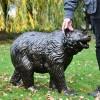 Bear Cub Antique Bronze Garden Sculpture to Sclae