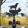 Labrador dog weathervane in garden