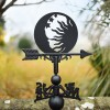Sun & moon Weathervane in garden