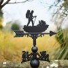 Hiking Weathervane in Garden