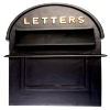 Grosvenor Telescopic Post and Parcel Box Finished In Black With Gold Lettering
