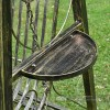 Black and gold side table on garden Swing Seat