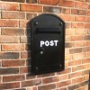 Black Post Box - Built into brick wall