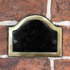 Blank Black & Brass Arched Number Sign