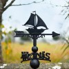 Cast Iron Sail Boat Weathervane Top