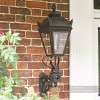 Black Deluxe Victorian Wall and Porch Lantern