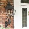 Black Deluxe Victorian Wall Lantern Installed By Front Door