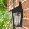 Black Half Wall Lantern