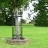 Black Iron and Gold Hexagonal Tree Guard
