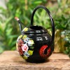 Black Narrowboat Style Watering Can