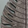 Black Palm Leaf Ornamental Wall Art Close Up