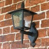 Black Traditional Lantern With Frosted Glass