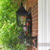 Black Traditional Victorian Porch Wall Light Side On View