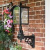 Black Victorian Curved Top Wall Lantern and Bracket