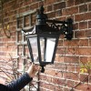 Black Victorian Lantern To Scale