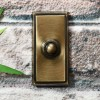 Antique Bronze rectangle simplistic door bell
