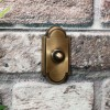 Classic Designed door Bell on Brick wall finished in antique bronze
