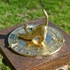 Brass cat & Mouse sundial