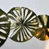 Close-up of the Brass Lilly Pad Wall Art
