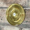 Brass Round Bell Push With Ceramic Press