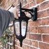 Bridlington Large Top Fix Black Wall Lantern to scale