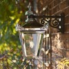 Bright Chrome Suspended Victorian Wall Lantern