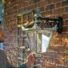 Bright Chrome Top Fix Wall Mounted Lantern