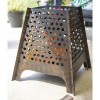 Contemporary Fire Basket Finished in Bronze in Situ Outside