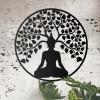 """Buddha Tree"" Wall Art in Situ on a Rustic Brick Wall"