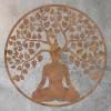 """Buddha Tree"" Rustic Wall Art on a Rustic Wall"