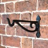 Black Scroll Iron Hanging Basket Bracket