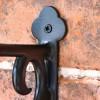 Black Scroll Iron Hanging Basket Bracket Fixing Plate