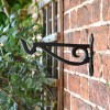 Black Scroll Iron Hanging Basket Bracket Side View