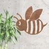 Rustic 'Cartoon Bee' Wall Art