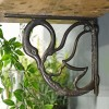 Swan Design Shelf Bracket Created From Cast Iron