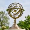 Celestial Armillary Sundial in Situ in the Garden